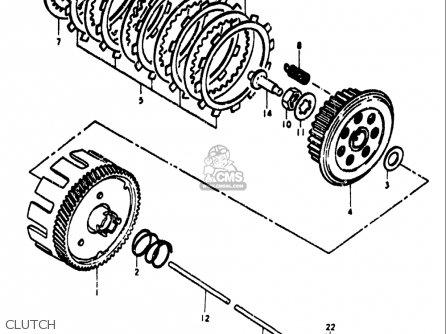 Suzuki Ts185 1971-1972 (usa) parts list partsmanual partsfiche