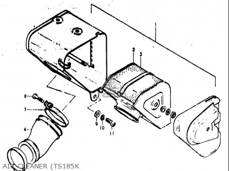 Suzuki Ts185 1973-1976 (usa) parts list partsmanual partsfiche