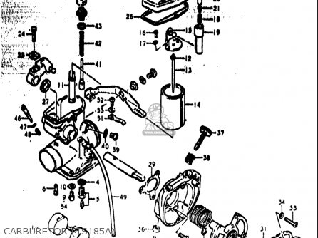 Suzuki Ts185 1973-1976 (usa) parts list partsmanual partsfiche
