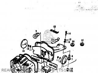 Suzuki Ts185 1973 (k) Usa (e03) parts list partsmanual