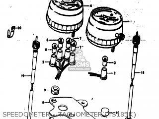 Suzuki TS185 1973 (K) USA (E03) parts lists and schematics