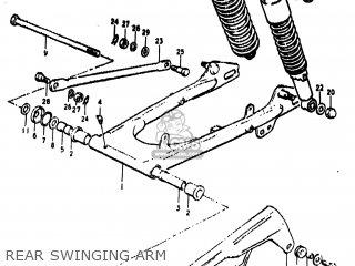 Suzuki Ts185 1974 (l) Usa (e03) parts list partsmanual