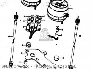 Suzuki Ts185 1974 (l) Usa (e03) parts list partsmanual