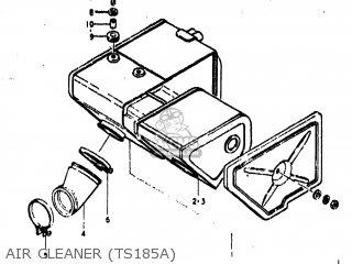 Suzuki Ts185 1976 (a) Usa (e03) parts list partsmanual