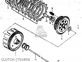 Suzuki TS185 1976 (A) USA (E03) parts lists and schematics