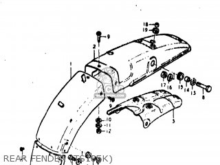 Suzuki TS185 1976 (A) USA (E03) parts lists and schematics