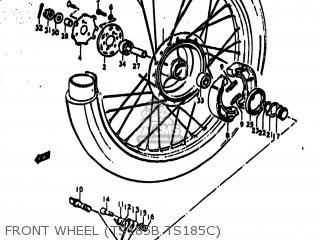 Suzuki Ts185 1977 (b) Usa (e03) parts list partsmanual