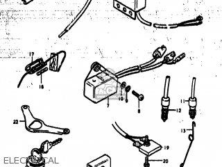 Suzuki TS185 1978 (C) USA (E03) parts lists and schematics