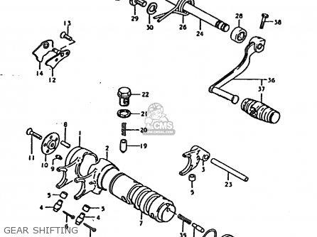 Suzuki Ts185 1979 (ern) parts list partsmanual partsfiche