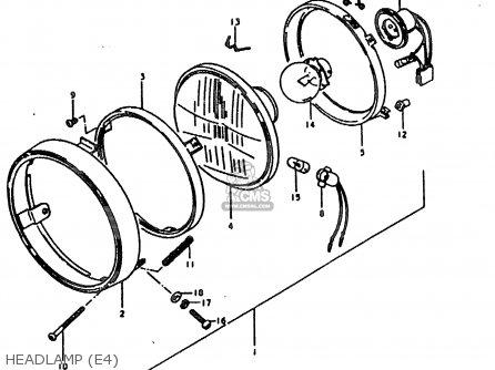 Suzuki Ts185 1980 (ert) parts list partsmanual partsfiche