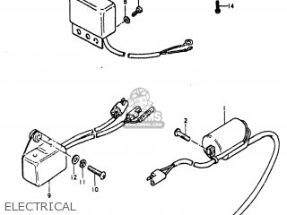 Suzuki TS185 1980 (T) USA (E03) parts lists and schematics