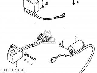 Suzuki TS185 1981 (X) USA (E03) parts lists and schematics
