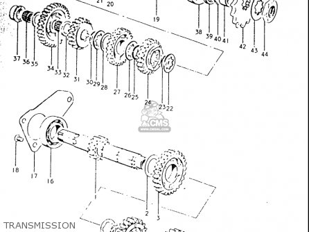 Suzuki Ts250 19691970 Usa (e03) parts list partsmanual