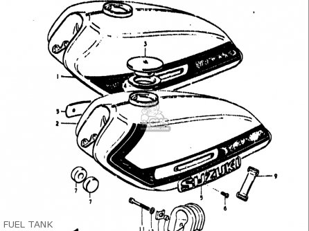 Suzuki Ts250 1971-1972 (usa) parts list partsmanual partsfiche
