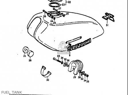 Suzuki Ts250 1973-1976 (k) (l) (m) (a) Usa parts list