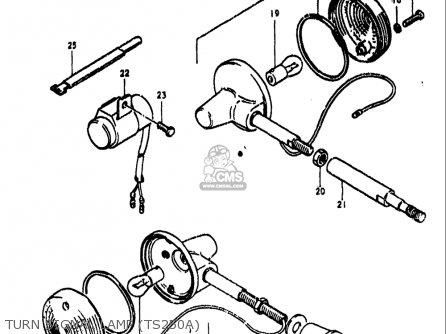 Suzuki Ts250 1973-1976 (usa) parts list partsmanual partsfiche