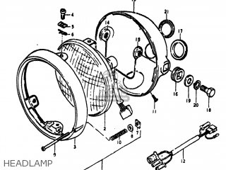 Suzuki Ts250 1973 (k) Usa (e03) parts list partsmanual