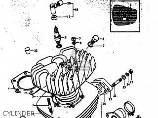 Suzuki Ts250 1974 (l) Usa (e03) parts list partsmanual