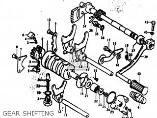 Suzuki TS250 1974 (L) USA (E03) parts lists and schematics