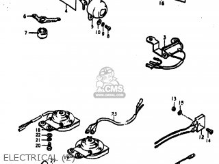 Suzuki TS250 1975 (M) USA (E03) parts lists and schematics