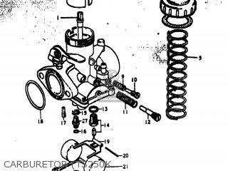 Suzuki Ts250 1976 (a) Usa (e03) parts list partsmanual