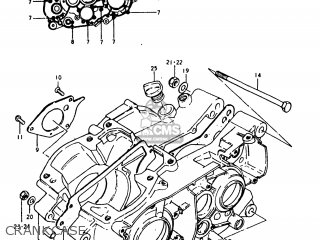 Suzuki Ts250 1977 (b) Usa (e03) parts list partsmanual