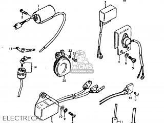 Suzuki Ts250 1977 (b) Usa (e03) parts list partsmanual