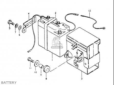 Suzuki Ts250 1980-1981 (usa) parts list partsmanual partsfiche
