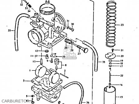 Suzuki Ts250 1980 (ert) parts list partsmanual partsfiche