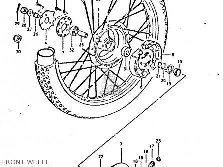 Suzuki Ts250 1980 (ert) parts list partsmanual partsfiche