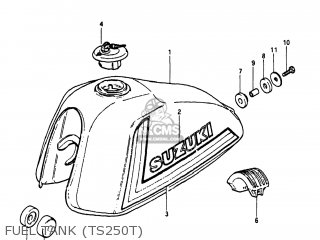 Suzuki TS250 1980 (T) USA (E03) parts lists and schematics