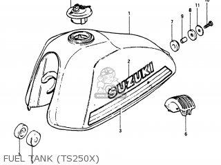 Suzuki Ts250 1980 (t) Usa (e03) parts list partsmanual