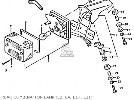 Suzuki Ts250 1981 (erx) parts list partsmanual partsfiche