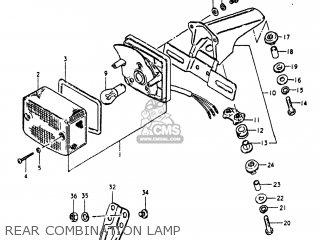 Suzuki Ts250 1981 (x) Usa (e03) parts list partsmanual