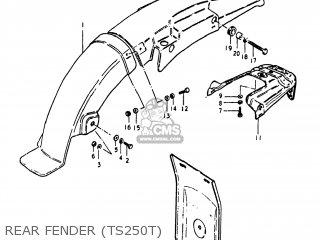 Suzuki TS250 1981 (X) USA (E03) parts lists and schematics