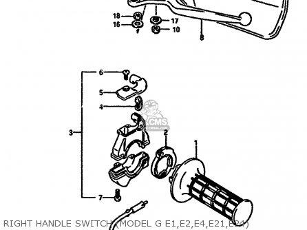 Suzuki Ts250 1984 (xe) parts list partsmanual partsfiche