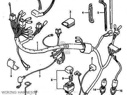 Suzuki Ts250 1986 (xg) parts list partsmanual partsfiche