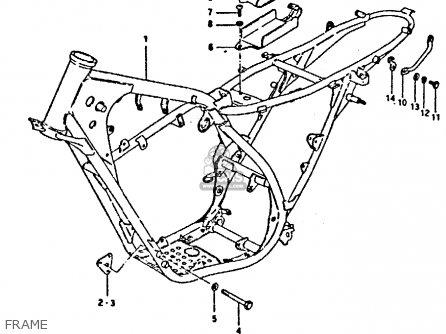 Suzuki TS250ER 1980 (T) (01 02 E04 E09 E16 E17 E18 E21 E22