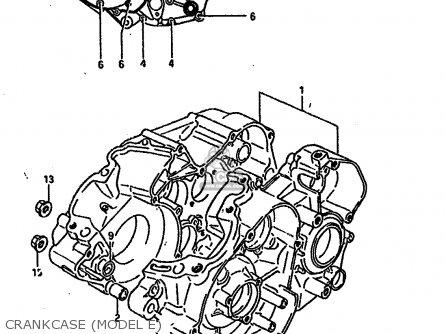 Suzuki TS250X 1984 (E) (E01 E04 E17 E18 E21 E24) parts