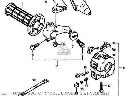 Suzuki TS250X 1986 (G) (E01 E02 E04 E17 E18 E21 E22 E24