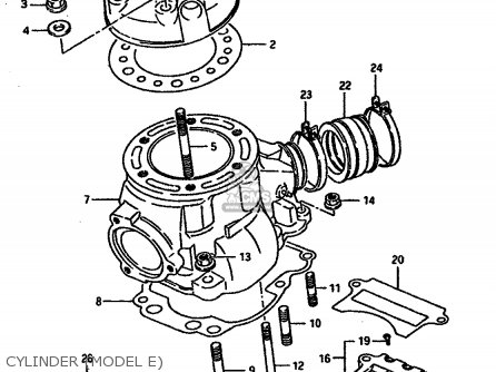 Suzuki TS250X 1987 (H) (E01 E02 E15 E16 E17 E21 E22 E24