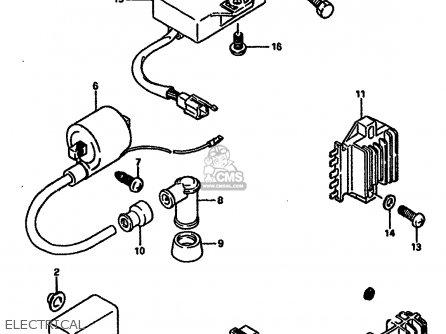 Suzuki TS250X 1989 (K) (E02 E16 E21 E22 E24) parts lists