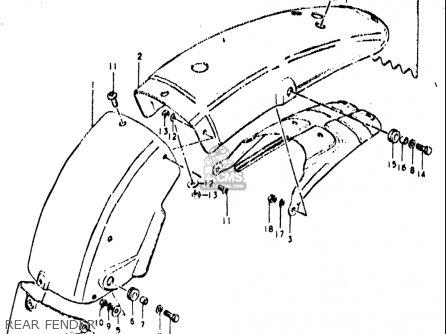 Suzuki Ts400 1972 (usa) parts list partsmanual partsfiche