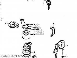 Suzuki TS400 1973 (K) USA (E03) parts lists and schematics