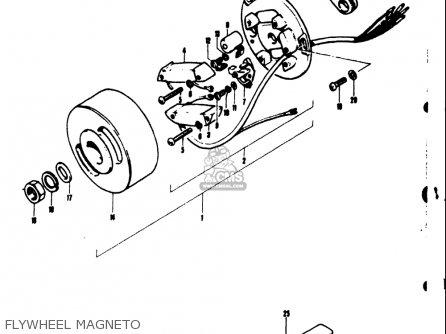 Suzuki TS50 1971 1972 1973 1974 (R) (J) (K) (L) USA (E03