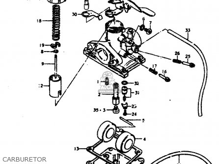 Suzuki Ts50 1979 (erpn) parts list partsmanual partsfiche