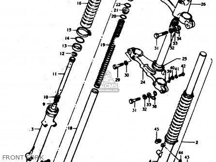 Suzuki Ts50 1979 (erpn) parts list partsmanual partsfiche