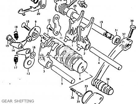 Suzuki Ts50 1980 (erkt) parts list partsmanual partsfiche