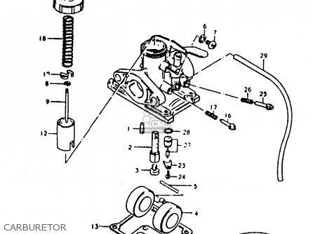 Suzuki Ts50 1982 (erkdz) parts list partsmanual partsfiche
