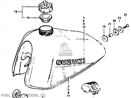 Suzuki Ts50 1982 (erkdz) parts list partsmanual partsfiche